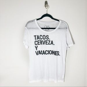 Chaser Soft cotton Taco Lover graphic t shirt